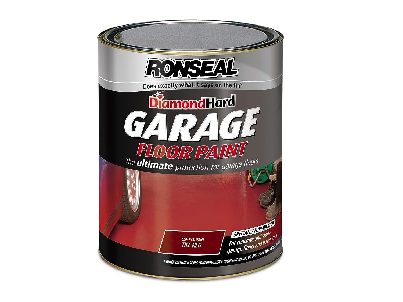 Ronseal Dhgfptr5l Diamond Hard Garage Floor Paint Tile Red 5 Litre