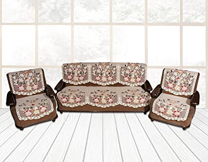 Magnificent Yellow Weavestm 6 Piece Multi Sofa Chair Seat Cover Set Interior Design Ideas Tzicisoteloinfo