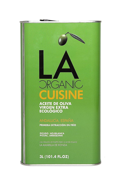 LA Organic Cuisine - Aceite de Oliva Virgen Extra Ecológico Coupage - Lata de 3 litros