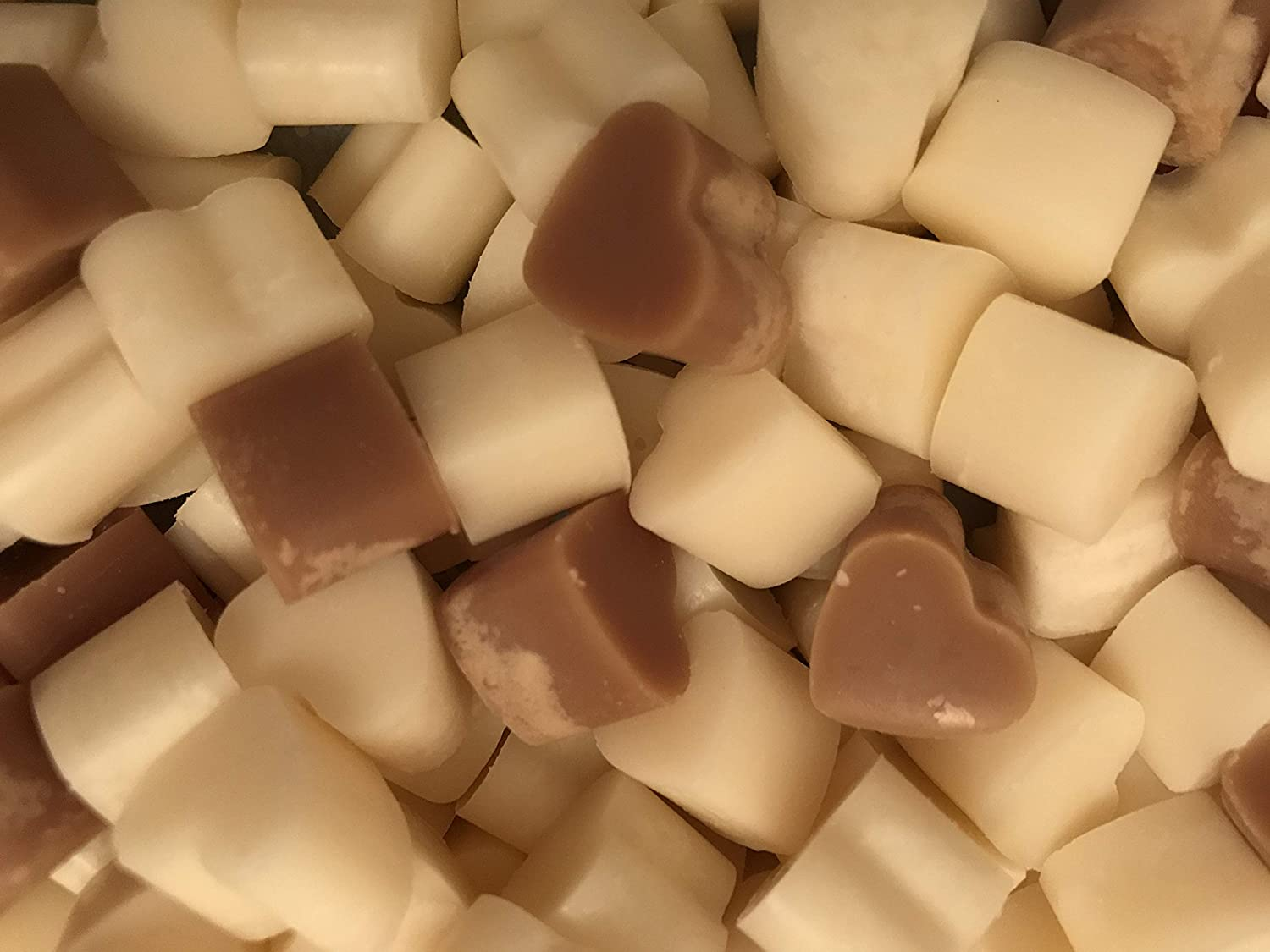 60 Soya Wax Mini Love Heart Melts/Tarts (Christmas) Caroles Candles