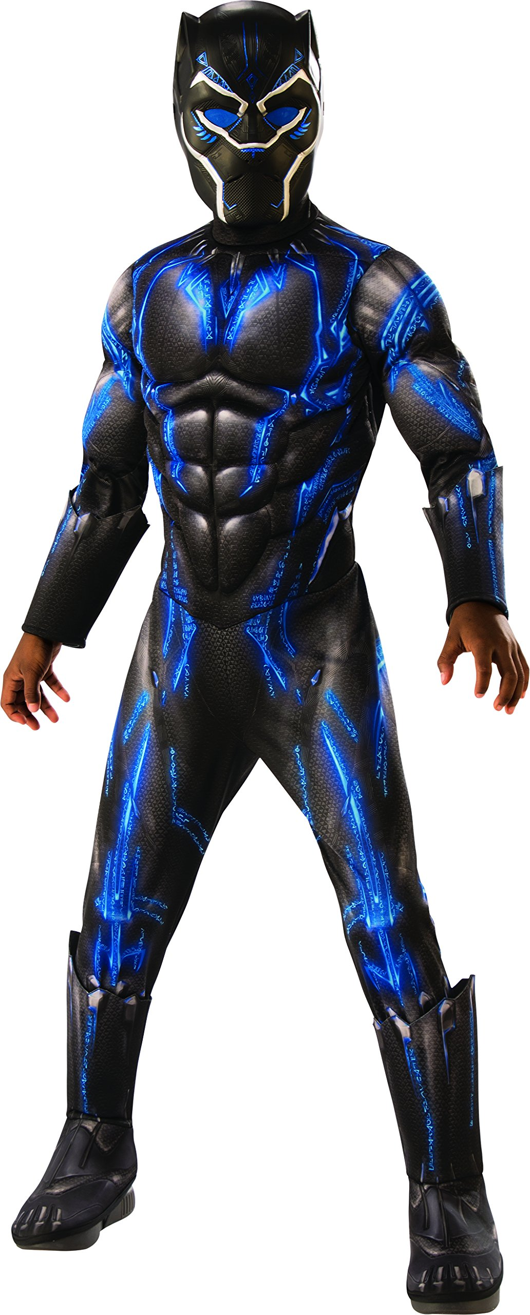 Rubie's Costume Deluxe Black Panther Child's Costume, Blue, Large