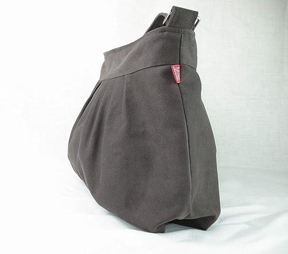 d17ae07625 Amazon.com  Gray Bag Canvas Purse Pleated Bag For Women Gift Daily Use  Shoulder Bag Evening Bag Washable Handbag Bags Diaper Bag Eco-Friendly  Fabric ...