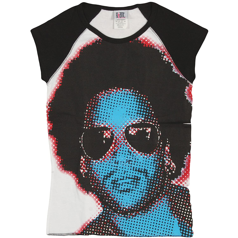 FankTasf Lenny Kravitz Female Slim 3//4 Sleeve Casual Fashion Round Neck Top T-Shirt