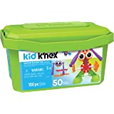 Kid K'NEX Budding Builders Building Set for Ages 3 and Up, Preschool Educational Toy, 100 Pieces