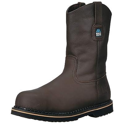 Amazon.com | MCRAE Men's Mid Calf Boot, Brown-2, 10 M US | Industrial & Construction Boots