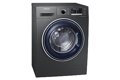 Samsung - Lavadora de acero inoxidable ww80j5555fx/EC autoportante ...