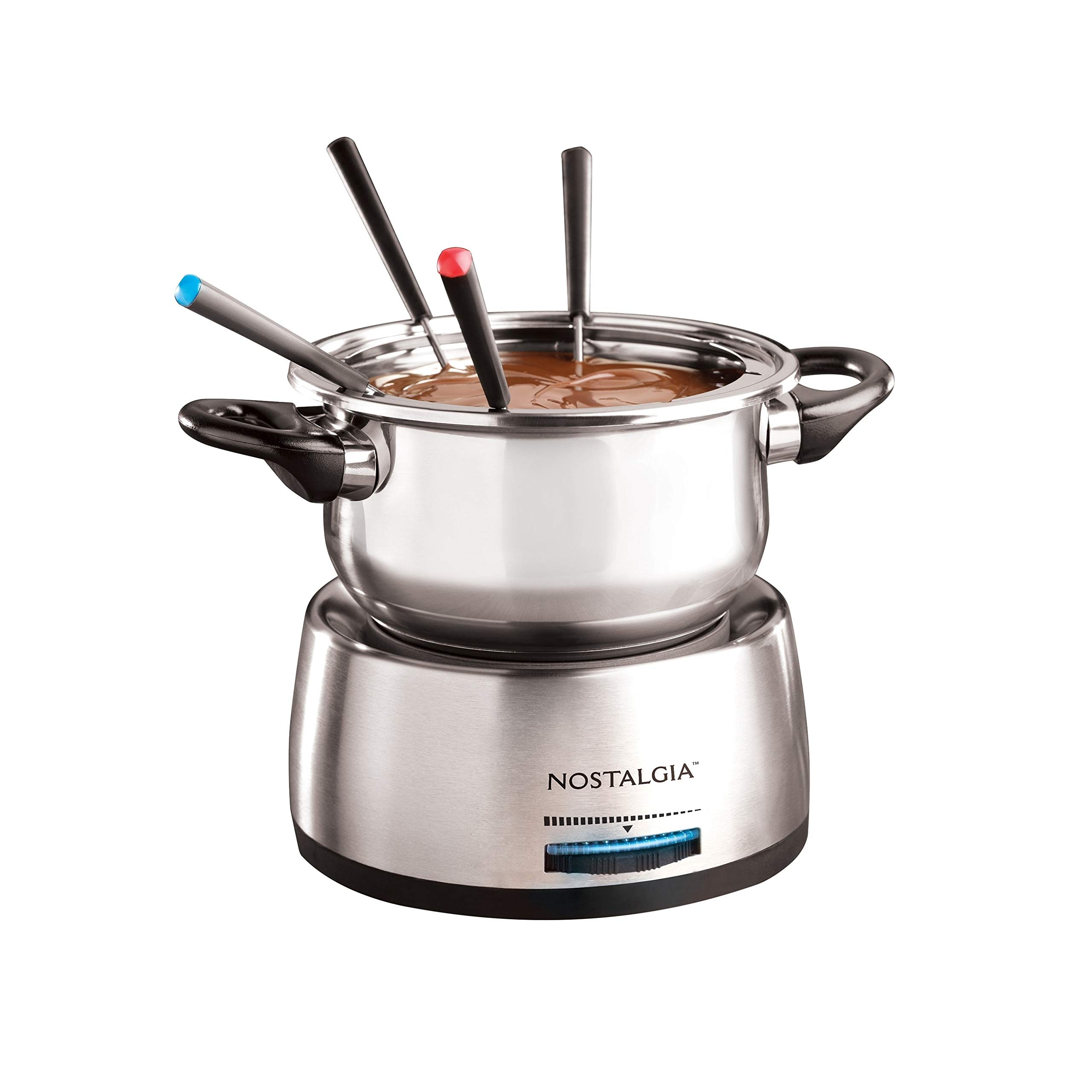 Fps200 6-Cup Stainless Steel Electric Fondue Pot Silver Metal Variable Temperature Control by Unknown