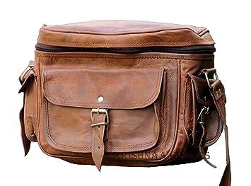 Amazon.com: LUST Leather Big Camera DSLR Padded Digital Camera Bag ...