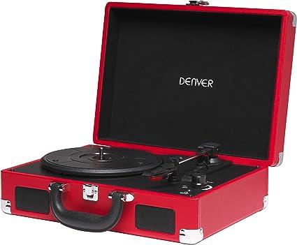 Tocadiscos Denver VPL-118RED de Tres velocidades 33 1/3,45,78 RPM ...