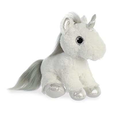 """Aurora - Sparkle Tales - 12"""" Silver Unicorn: Toys & Games"""