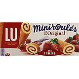 LU Miniroulés L'Original aux fraises Biscuits tendres 6 sachets