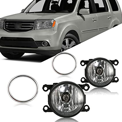 Scitoo Fog light Assembly Kit fit HONDA PILOT 2006 2007 2008 Projector Fog Lamp With Clear Lens In Pair