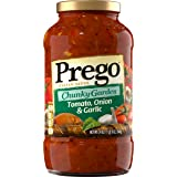 Prego Chunky Garden Pasta Sauce, Tomato, Onion & Garlic, 24 Ounce (Packaging May Vary)