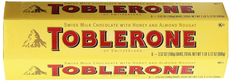 Amazon.com : Toblerone Swiss Milk Chocolate with Honey and Almond ...