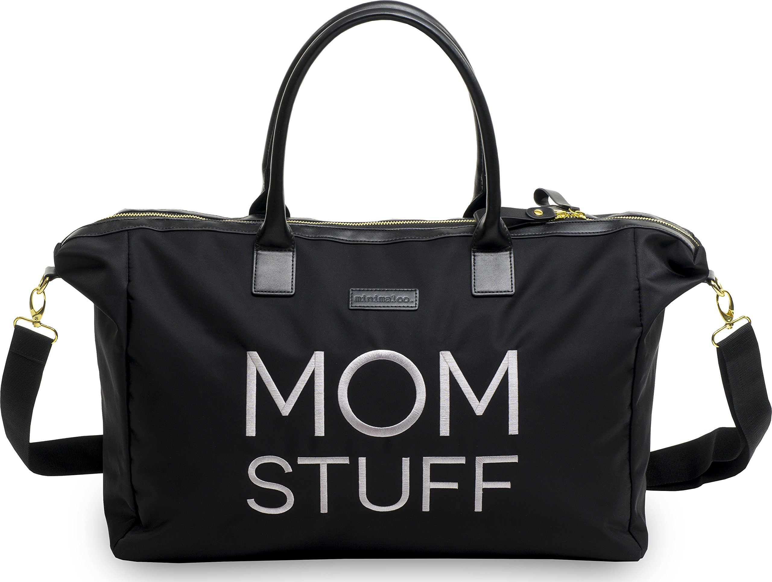 Minimaloo Mom Hospital Bag - Canvas Weekend Tote Bag - Maternity Hospital Bag for Labor and delivery
