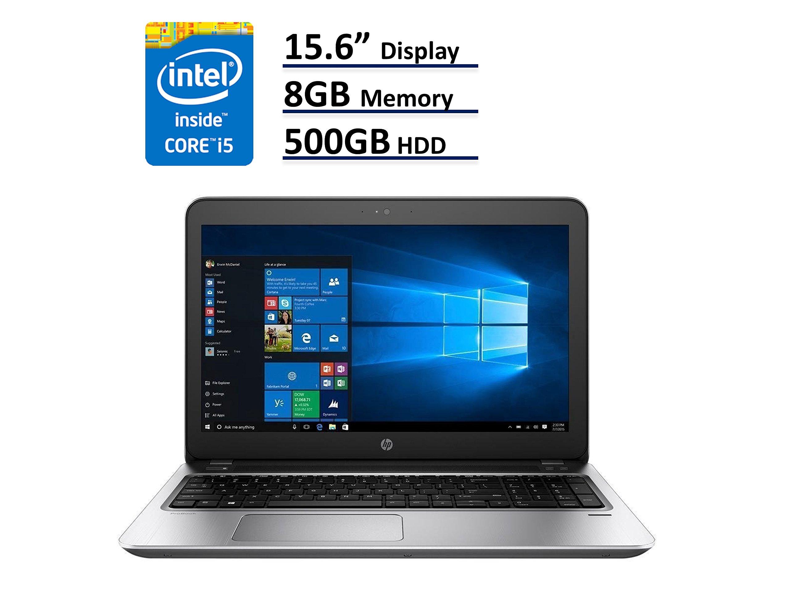 2017 HP ProBook 450 G4 Business Ultrabook Laptop: 15.6-Inch (1366x768)   Intel Core i5-7200U   500GB HDD   8GB DDR4   DVD-RW   Windows 10 Home