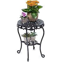 Relaxdays Tabouret Plantes Fleurs Fonte Support Table appoint Ronde Table Fleurs Plantes