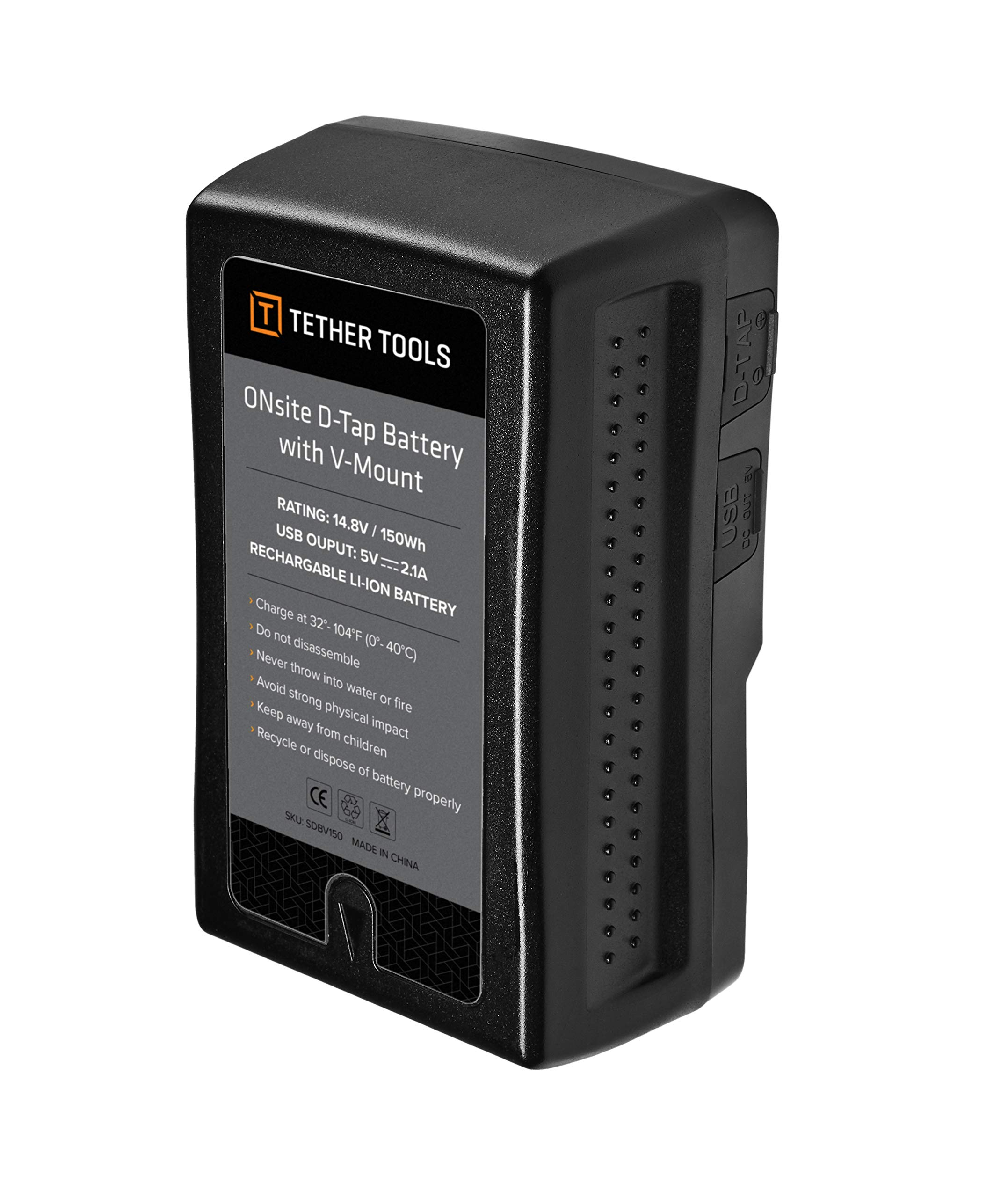 ONsite D-Tap Battery with V-Mount with US Charger (United States) by Tether Tools