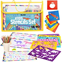 Drawing Stencils for Kids. Arts and Crafts Kit for Kids Ages 4-8. Art Supplies Drawing and Coloring Gift Set for Boys…