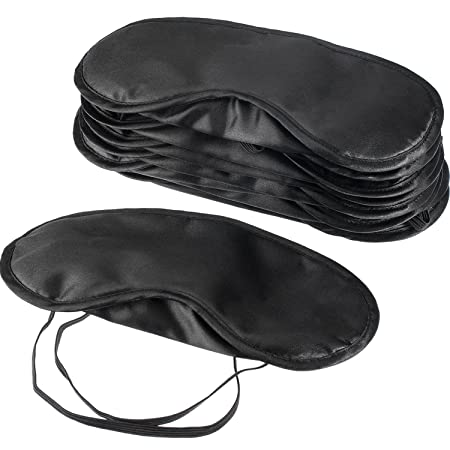Mudder Blindfold Eye Mask Shade Cover For Sleeping With Nose Pad, 10 Pack by Mudder