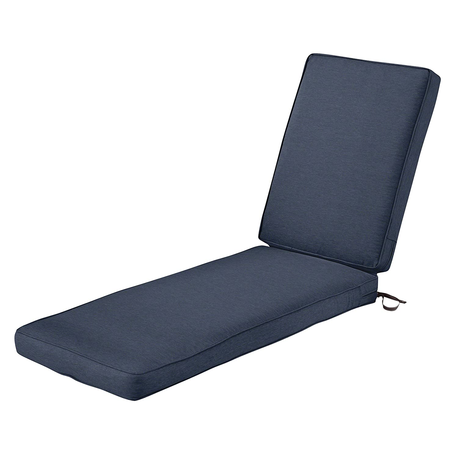"Classic Accessories Montlake Chaise Cushion Foam & Slip Cover, Heather Indigo, 72x21x3"" Thick"