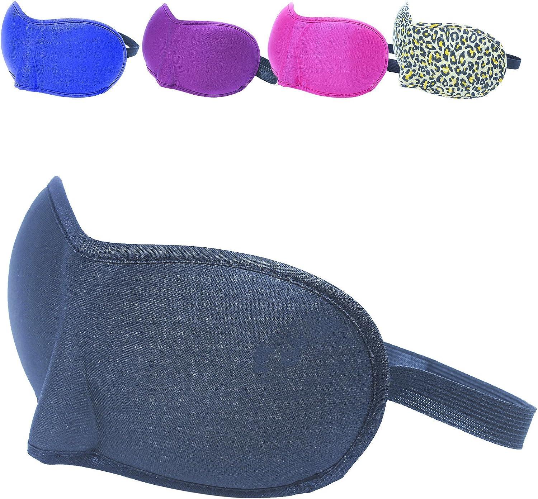 5 coloris voyage avec serre t/ête /élastique sommeil cache yeux pour dormir Vivezen /® Masque de nuit Norme CE