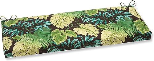 Pillow Perfect Outdoor Indoor Tropique Peridot Bench Swing Cushion, 45 x 18 , Green