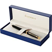 Waterman Hemisphere Black Gold Trim Fountain Pen (Medium)
