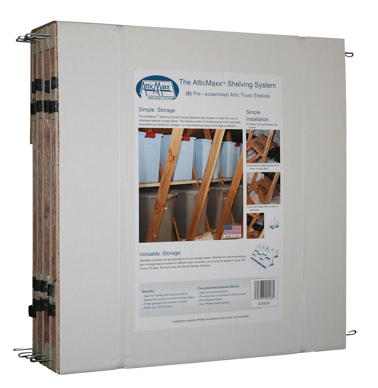 Amazon.com: AtticMaxx Shelving System - Set of 8 Attic Truss ...