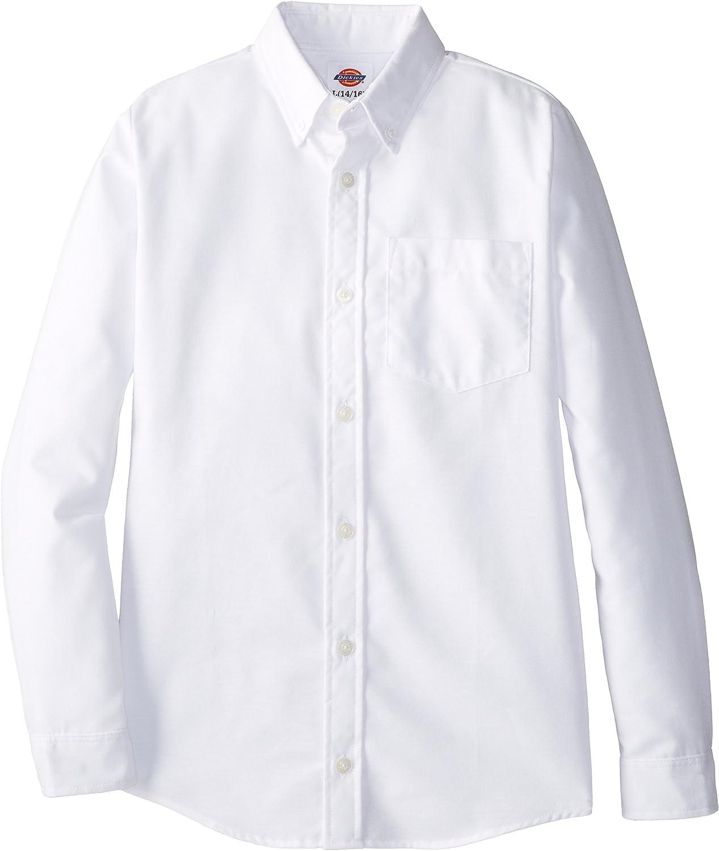 Dickies - - Camisa Oxford de KL920 chico - de manga larga