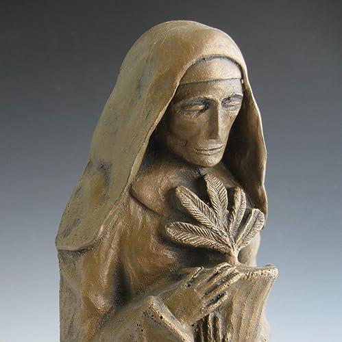 St. Hildegard of Bingen, Patron of Gardeners, Musicians, and Women Physicians Handmade Statue