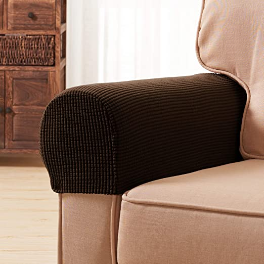 2pcs Spandex Stretch Armrest Arm Rest Covers Sofa Chair Skid Resistance New