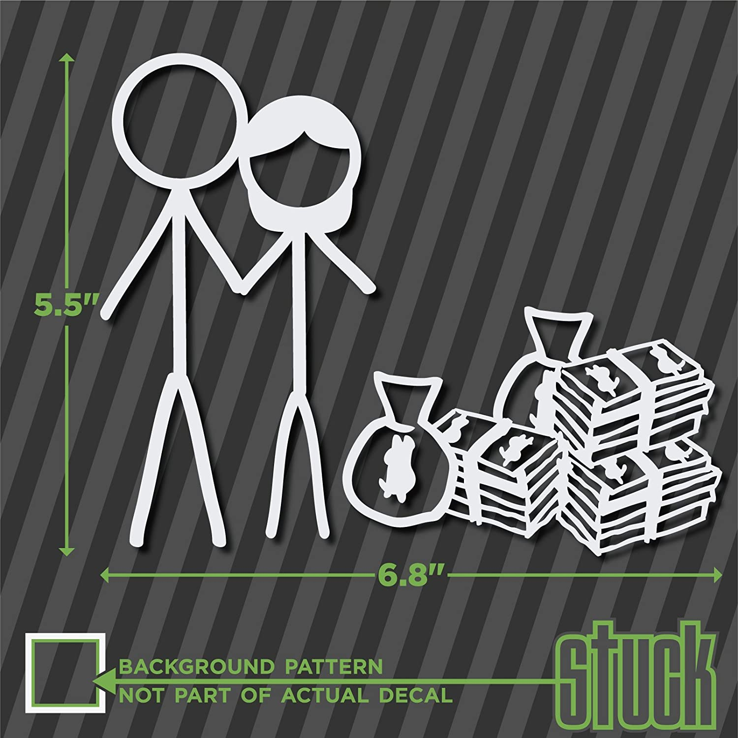 Amazoncom Stick Figure Couple With Money X Vinyl - Vinyl decals for your caramazoncom your stick family was delicious trex vinyl decal
