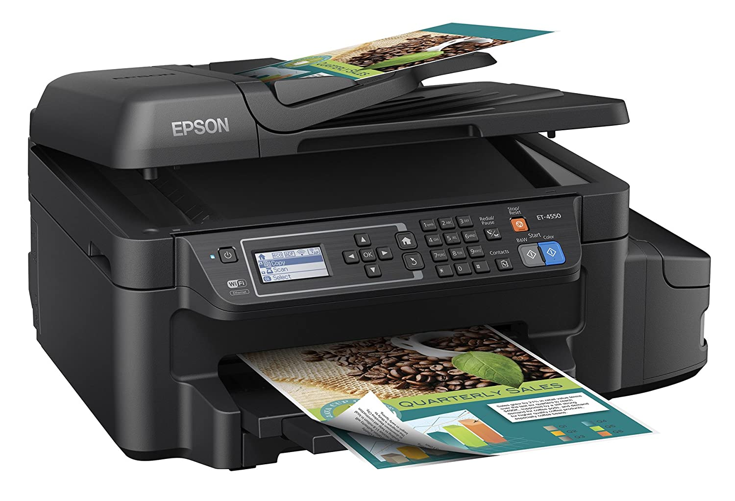 Color printing cost per page in india - Amazon Com Epson Workforce Et 4550 Ecotank Wireless Color All In One Supertank Printer With Scanner Copier Fax Ethernet Wi Fi Wi Fi Direct