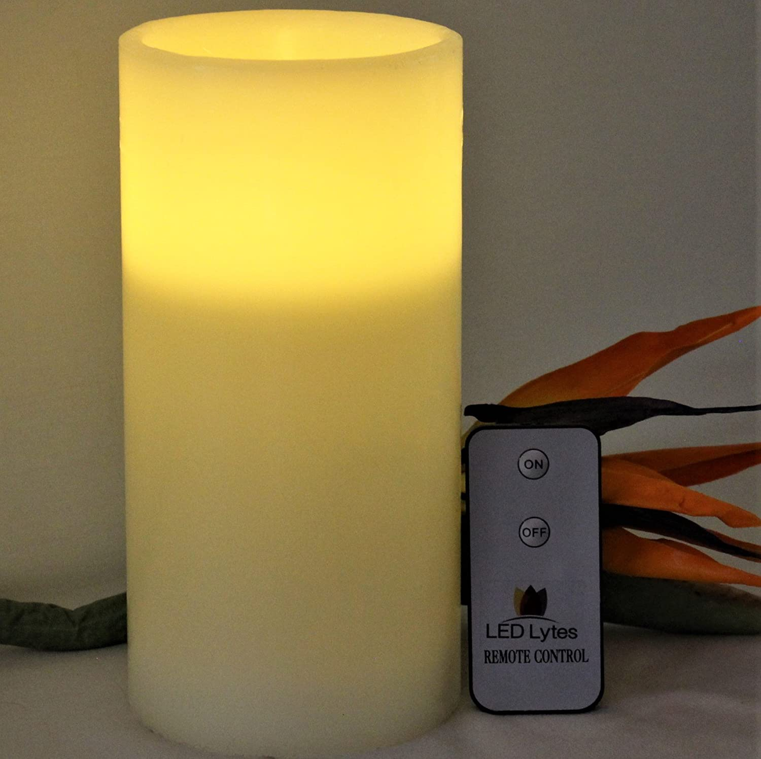 Amazoncom Led Lytes Flameless Candle Flickering  One Pale Yellow