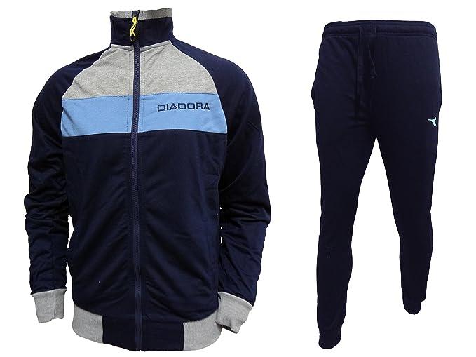 Diadora Tuta Uomo Full Zip Sportiva in Cotone Nuova Collezione Art. 60025   Amazon.it  Abbigliamento 10997da0130