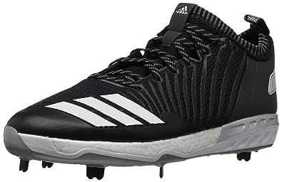 sneakers for cheap 6ed4d 57f1e adidas Men s Freak X Carbon Mid Baseball Shoe, Black White Metallic Silver,