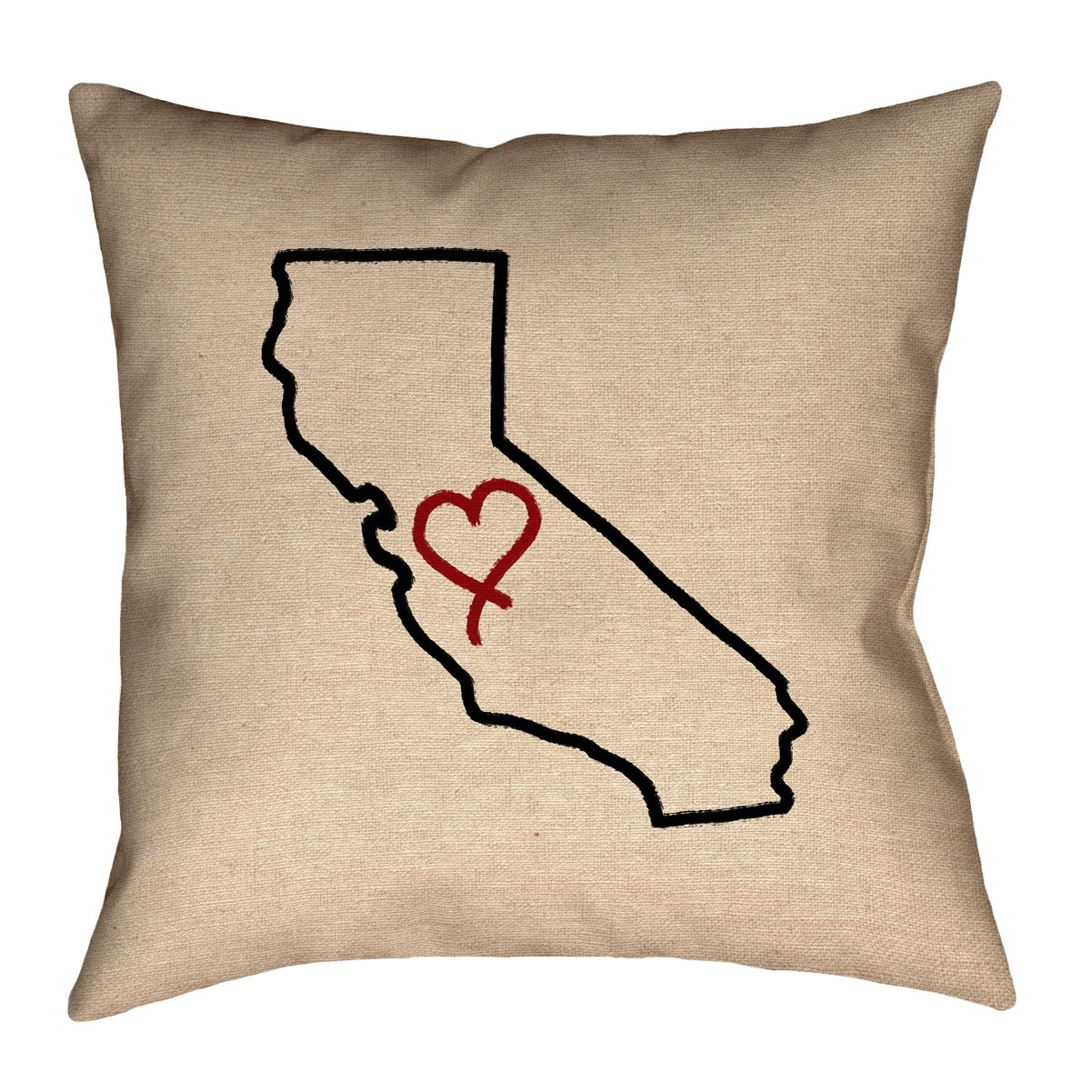 ArtVerse Katelyn Smith 36' x 36' Floor Double Sided Print with Concealed Zipper & Insert California Love Pillow