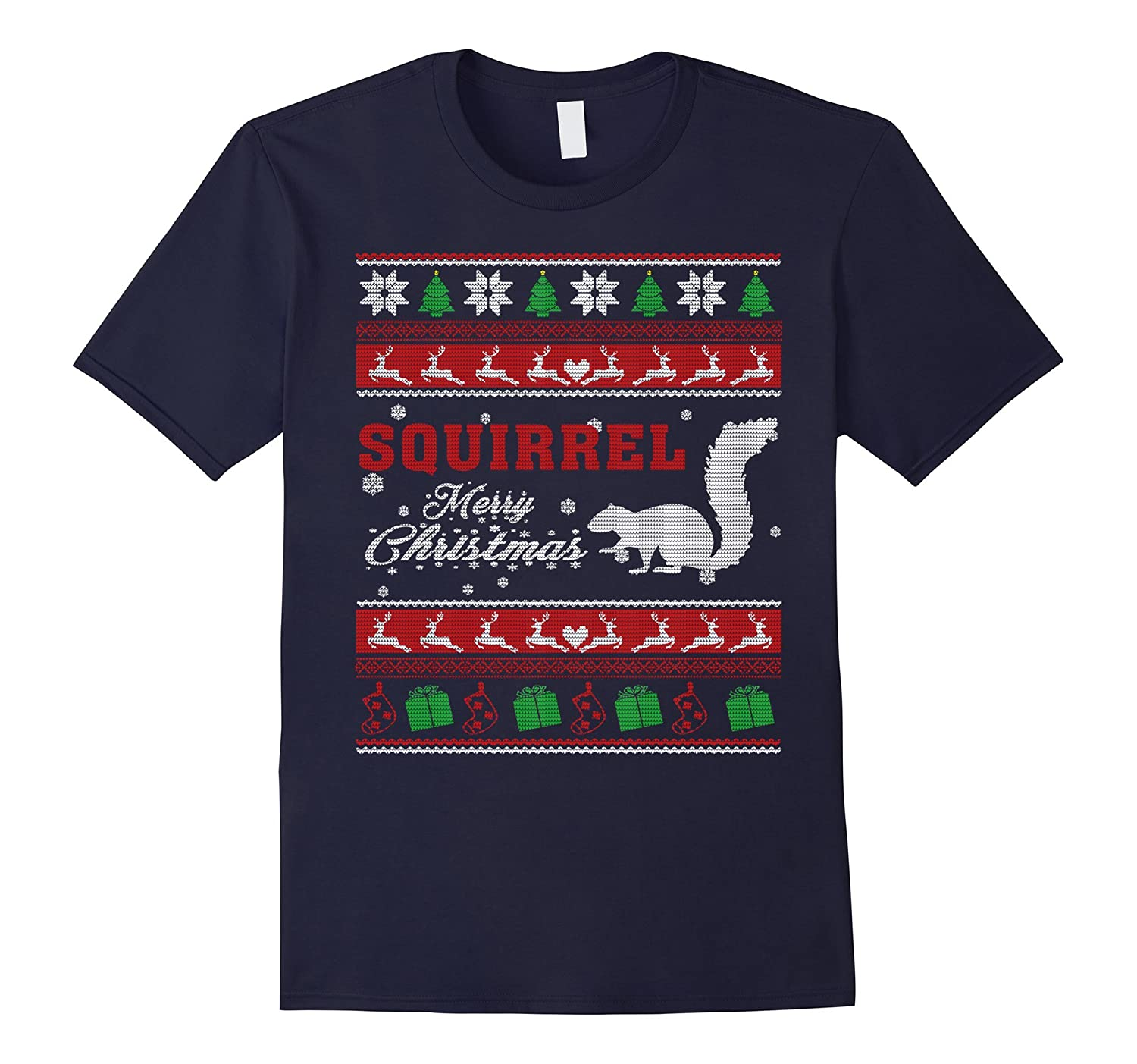 Squirrel Shirt-Squirrel Ugly Christmas Sweater Shirt-ANZ