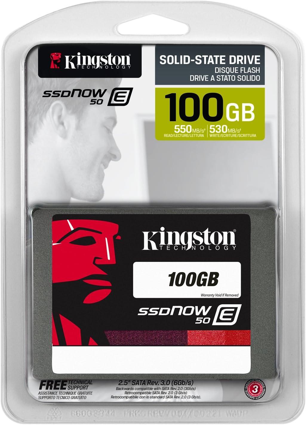 SSDNow E50 100GB 2.5-Inch Solid State Drive SATA SE50S37//100G Kingston Digital Inc