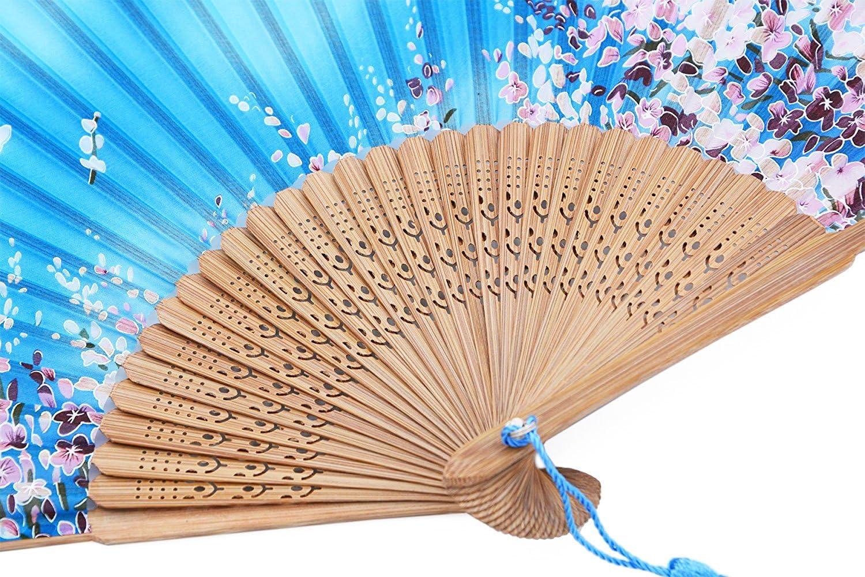 AM-02 Amajiji 8.27 Women Folding Fan Hand Fan,Chinease//Japanese Vintage Retro Style for Women Ladys Girls