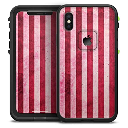 Amazon.com  Vintage Pink and Red Verticle Stripes Design Skinz ... e4a1b1fe8