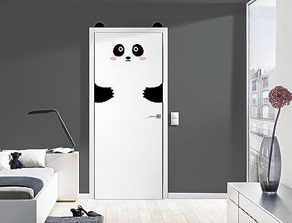 Legendentm Panda Stickers Decoracion Para Puertas Paredes O - Decoracion-para-puertas