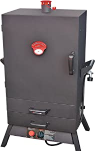 Landmann USA 3895GWLA Smoky Mountain Vertical Gas Smoker, 38-Inch, 26
