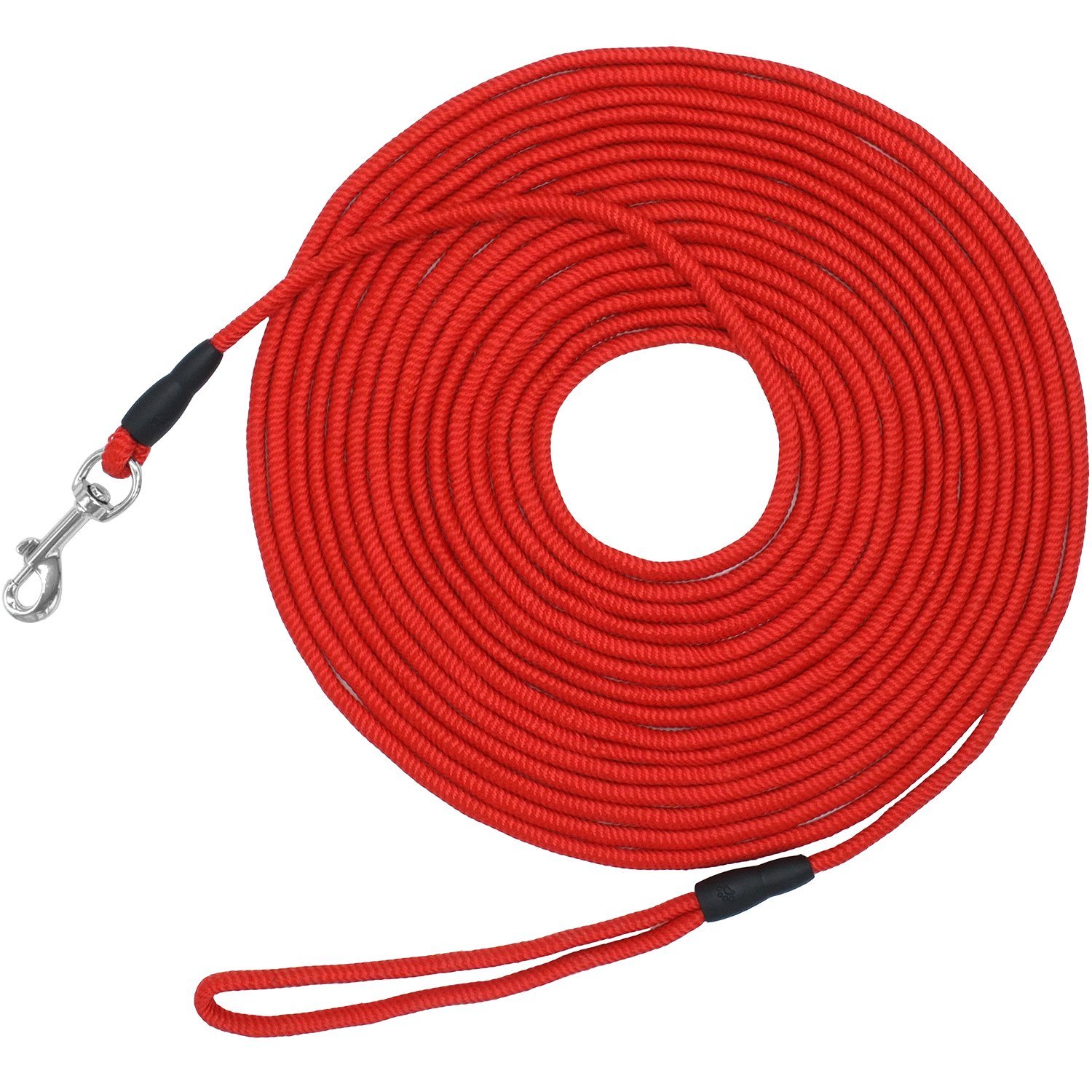 Vcalabashor Long Dog Puppy Obedience Recall Training Agility Rope Leash/Small Dog Check Cord/Young Dog Tracking Leads/Highly Visible and Floats/Red - 30ft