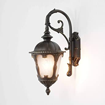 Wandleuchte Aussen Lampe Gold 1x E27 Bis Zu 60w Laterne 46cm