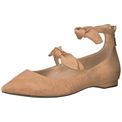 Brand - The Fix Women's Emilia Double Bow Pointed-Toe Flat, Camel, 7 B US: Shoes