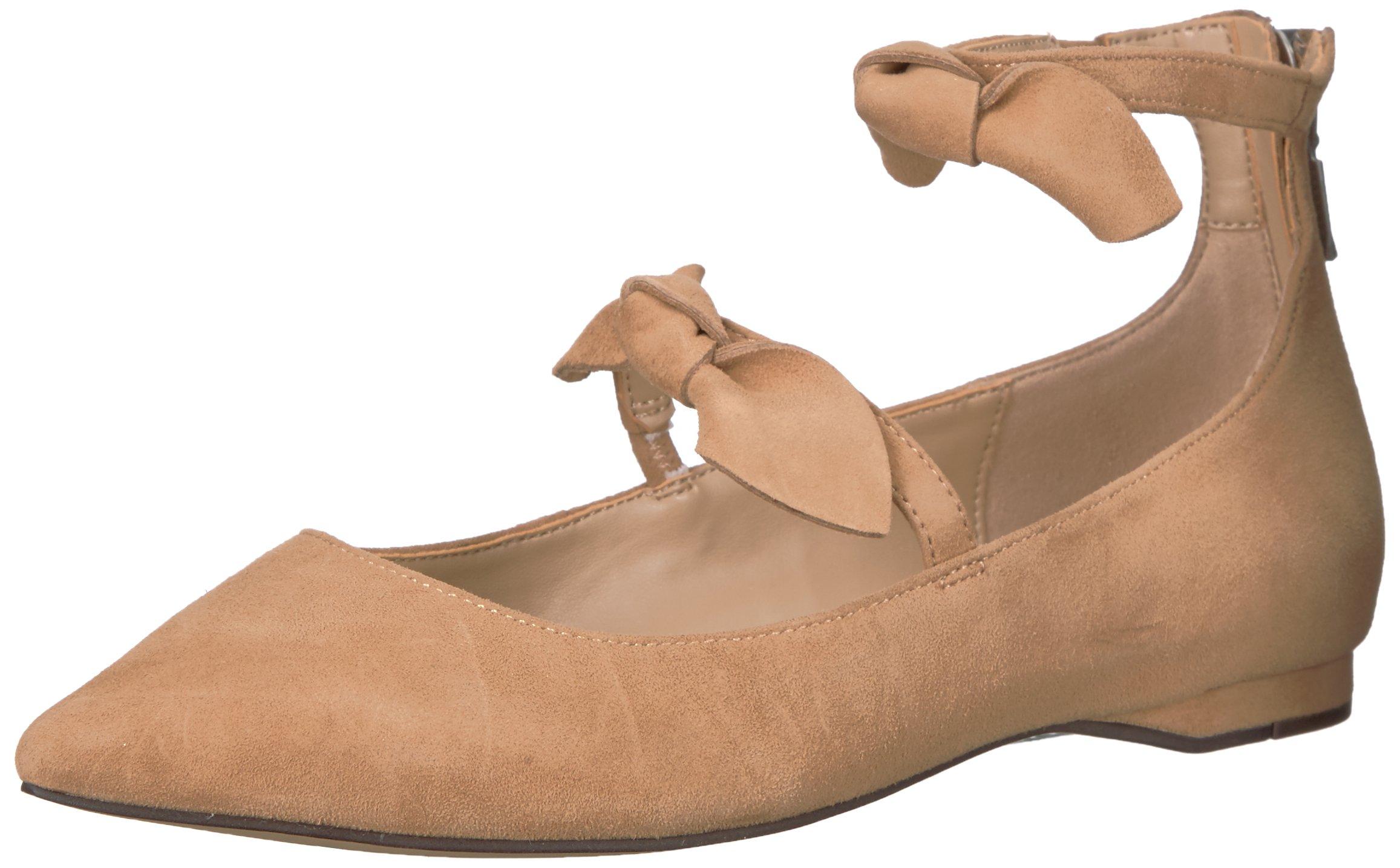 The Fix Women's Emilia Double Bow Pointed-Toe Flat, Camel, 7.5 B US