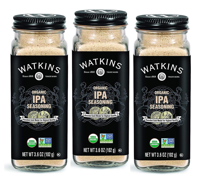 Watkins Gourmet Organic Spice Jar, IPA Seasoning, 3.6 oz. Bottle, 3-Pack