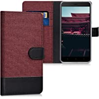 kwmobile Wallet Case Compatible with Xiaomi Redmi Note 4 / Note 4X - Fabric Faux Leather Cover with Card Slots, Stand…